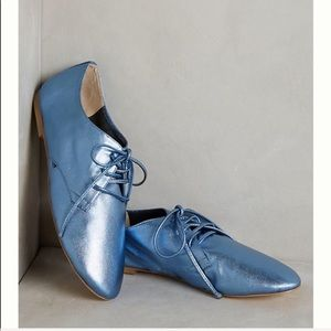Anthropologie Candela Dance Oxfords Metallic 6.5